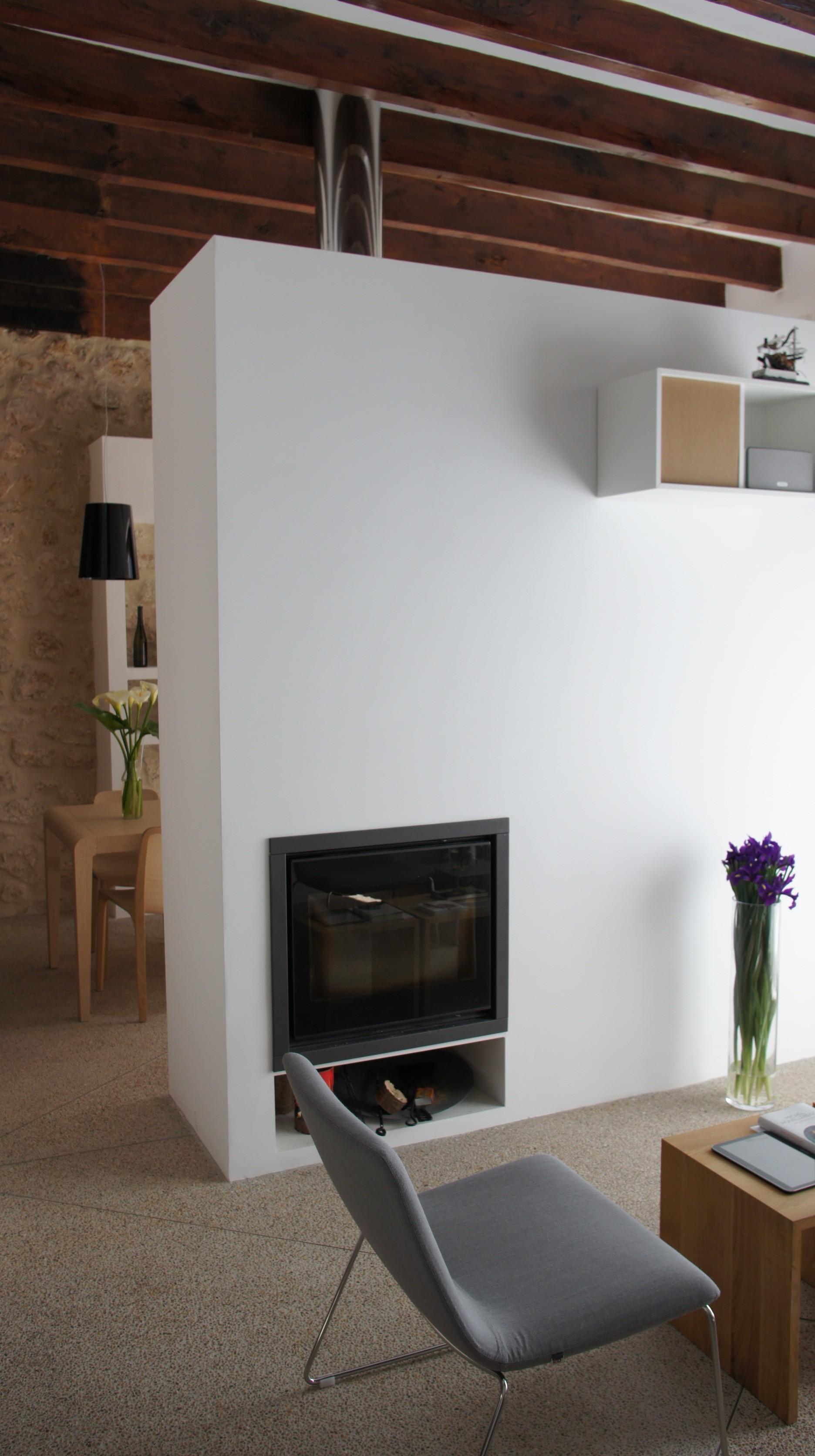 modern wood-burner